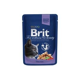 Влажный корм для кошек (консервы) Brit Premium Cat Pouches Cod Fish 100g