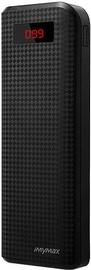 Зарядное устройство - аккумулятор iMyMax Carbon, 20000 мАч, черный