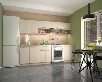 Virtuves komplekts Halmar Viola, bēša/ozola, 2.6 m