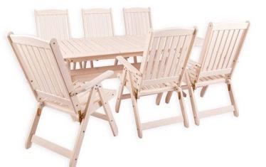 Комплект уличной мебели Folkland Timber Bavaria 6, белый, 6 места
