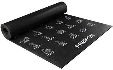 ProIron Illustrated Yoga Mat Black 183x61x0.5cm