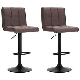 Bāra krēsls VLX Fabric 249612, brūna, 2 gab.