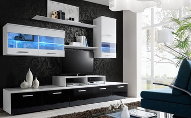 Cama Meble Wall Unit Logo II With Lights White/Black