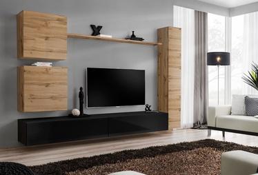 Dzīvojamās istabas mēbeļu komplekts ASM Switch VIII, melna