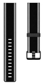 Ремешки Fitbit Versa Woven Hybrid Band Black Gray Small