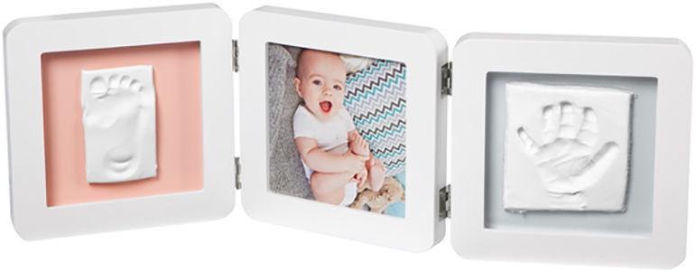 Komplekts roku / kāju zīmogu izveidei Baby Art Double Essentials Print Frame White