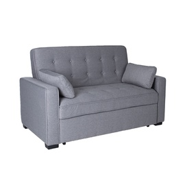 Диван-кровать Home4you Nicky Grey, 159 x 87 x 96.5 см