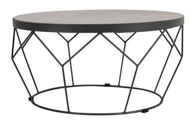 Dārza galds Home4you Sandstone Dark Grey, 70 x 70 x 35 cm