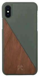 Woodcessories EcoSplit Back Case For Apple iPhone X Walnut/Green