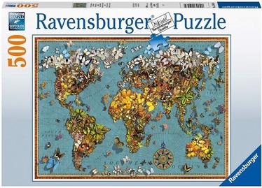 Puzle Ravensburger World Of Butterflies 15043, 500 gab.