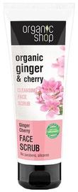 Sejas skrubis Organic Shop Ginger Cherry Cleansing Face Scrub, 75 ml