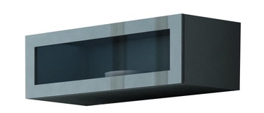 Cama Meble Vigo 90 Cabinet Glass Grey/Grey Gloss