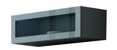 Cama Meble Vigo 90 Cabinet Glass Grey/Grey Gloss