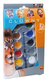 SES Creative Clowny Aqua Face Paint Set 10pcs 09694