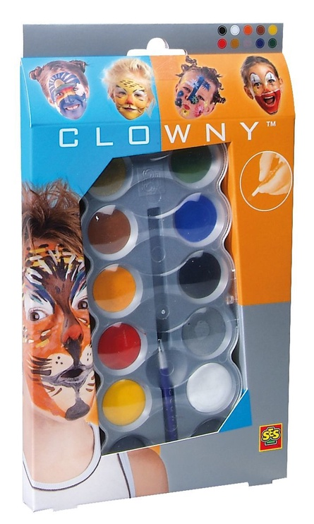 SES Creative Clowny Aqua Face Paint Set 10pcs 09694
