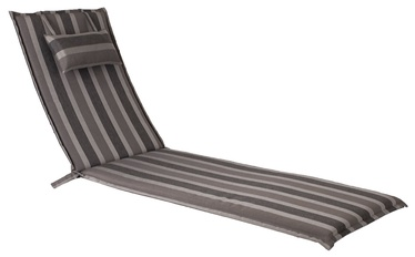 Home4you Wicker Deck Chair Pad 55x195x3cm Gray