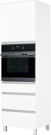 Кухонный шкаф Bodzio Sandi High Rise Oven 60 Left White, 600x590x2070 мм