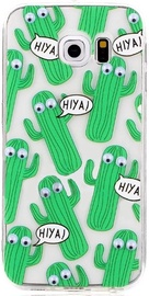 Mocco Cartoon Eyes Cactus Back Case For Apple iPhone 6/6s Transparent/Green