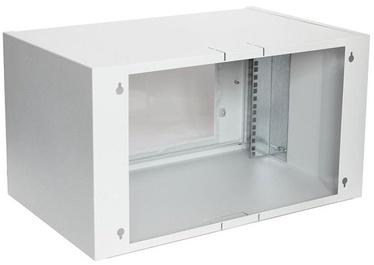 Assmann Wall Cabinet 19'' 6U/550x350mm Glass Grey