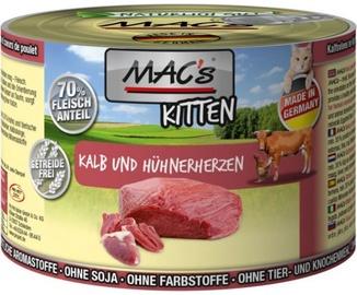Mac's Kitten Veal & Chicken Hearts 200g