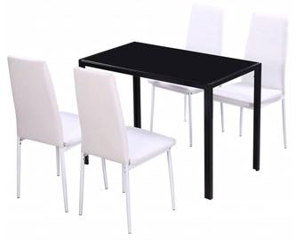 Ēdamistabas komplekts VLX 5 Pieces 242989, balts/melns
