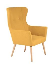 Atzveltnes krēsls Halmar Cotto Mustard, 73x76x99 cm
