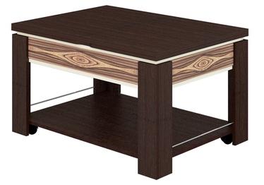 Журнальный столик DaVita Agat 24.11 Wenge, 650 - 900x900x520 - 760 мм