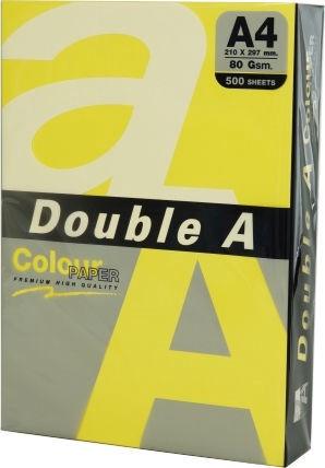 Kopēšanas papīrs Double A A4 500 Sheets dzeltens