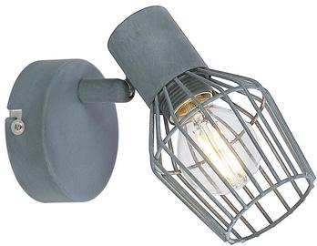 Gaismeklis Candellux Viking 40W E14 Wall Lamp Gray