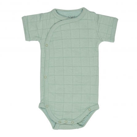 Lodger Romper Solid Body With Short Sleeves Silt Green 68cm