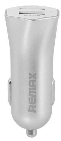 Remax Fast7 Dual USB Compact Car Charger Silver