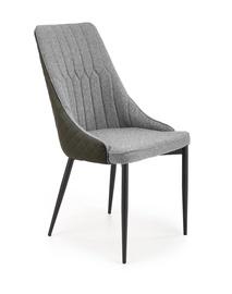 Ēdamistabas krēsls Halmar K448, melna/pelēka
