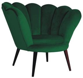 Atzveltnes krēsls Signal Meble Magnolia Green/Wenge, 95x60x87 cm