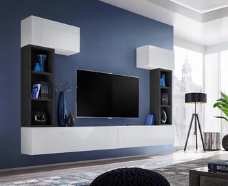 Dzīvojamās istabas mēbeļu komplekts ASM Blox II, melna