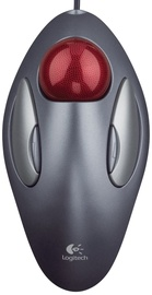 Datorpele Logitech Trackman Black, vadu, optiskā