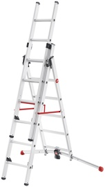 Hailo S100 ProfiLOT Combinable Ladder 2x6+1x5 Steps