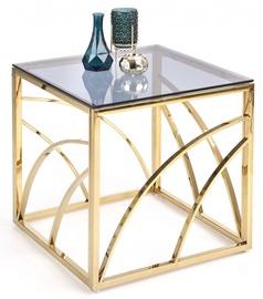 Журнальный столик Halmar Universe Square Gold, 550x550x550 мм