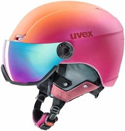 Uvex Hlmt 400 Visor Style Ski Helmet Pink Orange Metal Matt 53-58