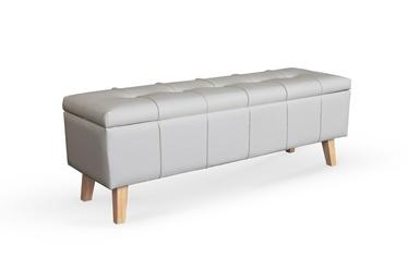 Pufs Halmar Massimo, balta, 130 cm x 40 cm x 44 cm