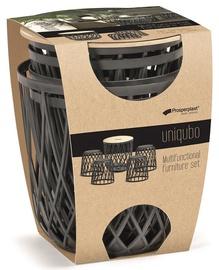 Комплект уличной мебели Prosperplast Uniqubo Multifunctional Anthracite, 4 места