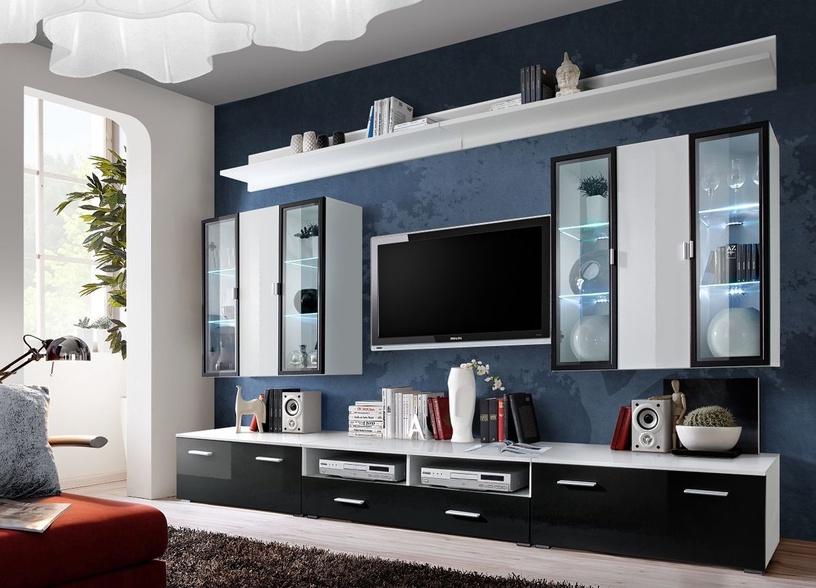 ASM Iceland Living Room Wall Unit Set White/Black