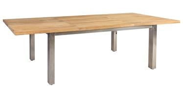 Dārza galds Home4you Nautica 13267 Teak, 200 - 300 x 100 x 76 cm