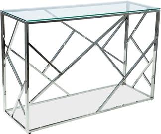 Консольный стол Signal Meble Escada C Silver, 1200x400x780 мм