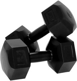 Hantele SportVida Hexagonal Shape Dumbbell Set Black 2x6kg