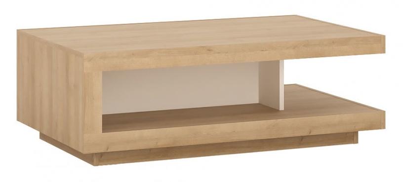 Meble Wojcik Lyon LYOT01 Coffee Table White/Riviera Light Oak
