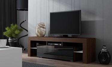 ТВ стол Pro Meble Milano 130 Walnut/Black, 1300x350x450 мм