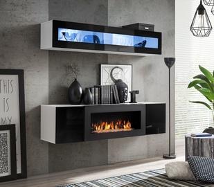 Dzīvojamās istabas mēbeļu komplekts ASM Fly N2 Black/White