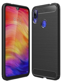 Hurtel Carbon Back Case For Xiaomi Redmi Note 7 Black