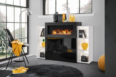 ASM Camino Chest Of Drawers LED w/ Fireplace Black/White