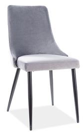 Ēdamistabas krēsls Signal Meble Piano B Velvet, pelēka